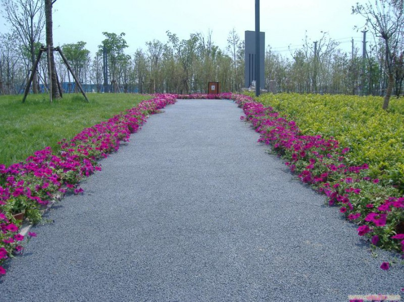 透水混凝土标准 彩色透水混凝土地坪 彩色水泥路面