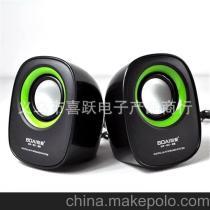 铂爱020 笔记本USB2.0手机MP3迷你便携低音炮电脑小音响 5对起批