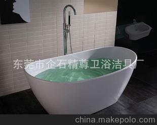 精尊卫浴直供人造石浴缸,独立浴缸--5年品质保证