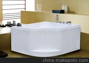 华龙卫浴 迷你卫生间1.1扇形亚克力 小三角浴缸 型号C-5