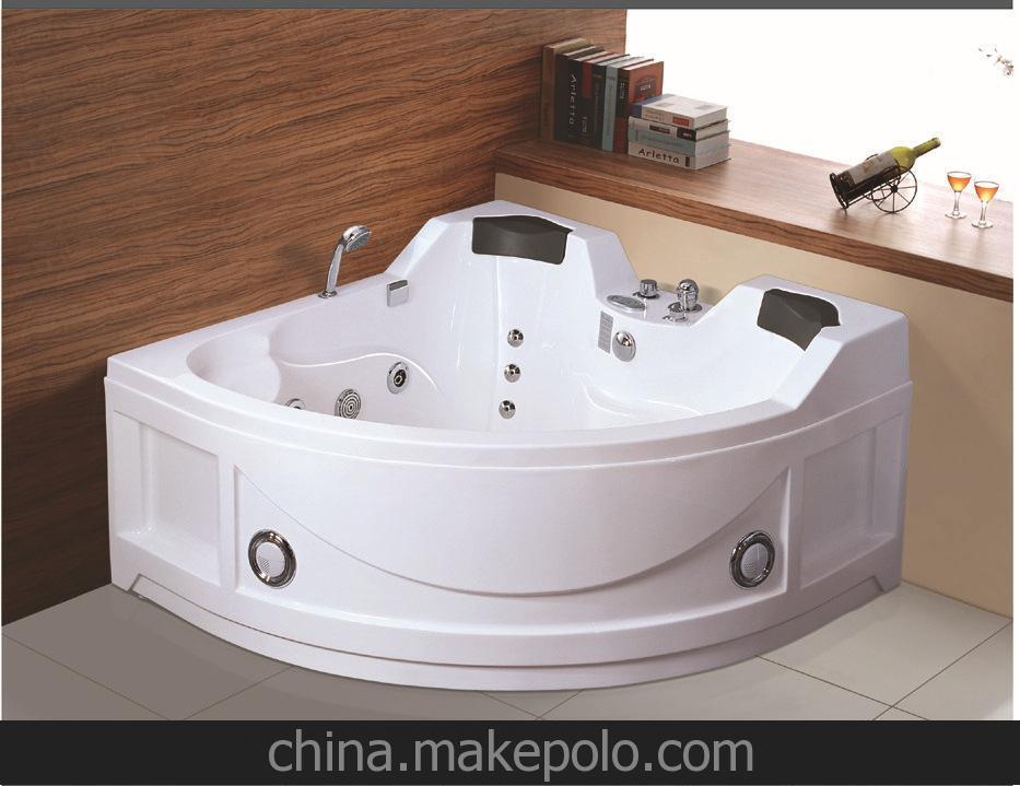 东尼斯 8606扇形亚克力浴缸 1米5按摩浴缸 厂家直销