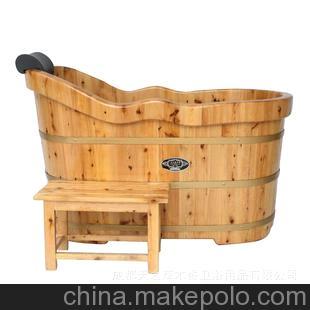 草木香浪边型泡澡桶 洗浴桶 沐浴桶 实木浴缸 木质浴桶洁具
