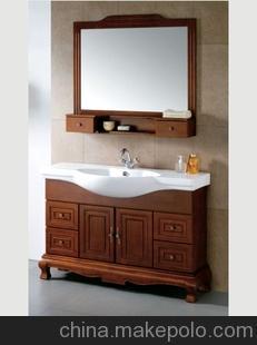 新奥丽诚实木浴室柜 木质浴柜 卫浴 实木 新款落地柜 洁具 1006款