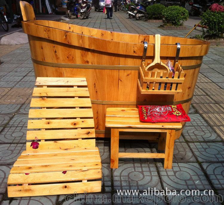 1米2香柏木贵妃双边桶6件套香柏木桶木质洁具浴缸一件也批发