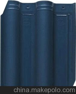 优质厂家诚信提供高质量陶瓷琉璃瓦 300x400mm蓝色和红色