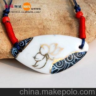 陶瓷首饰饰品 陶瓷项链 景德镇陶瓷手工制品 卡通瓷片项链
