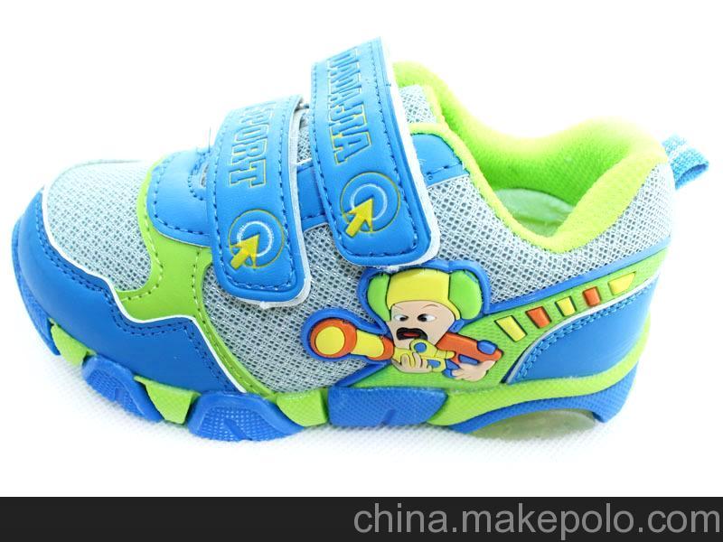 中国好童鞋 厂家直销新款卡通网布亮灯男女儿童运动鞋童鞋批发F-1