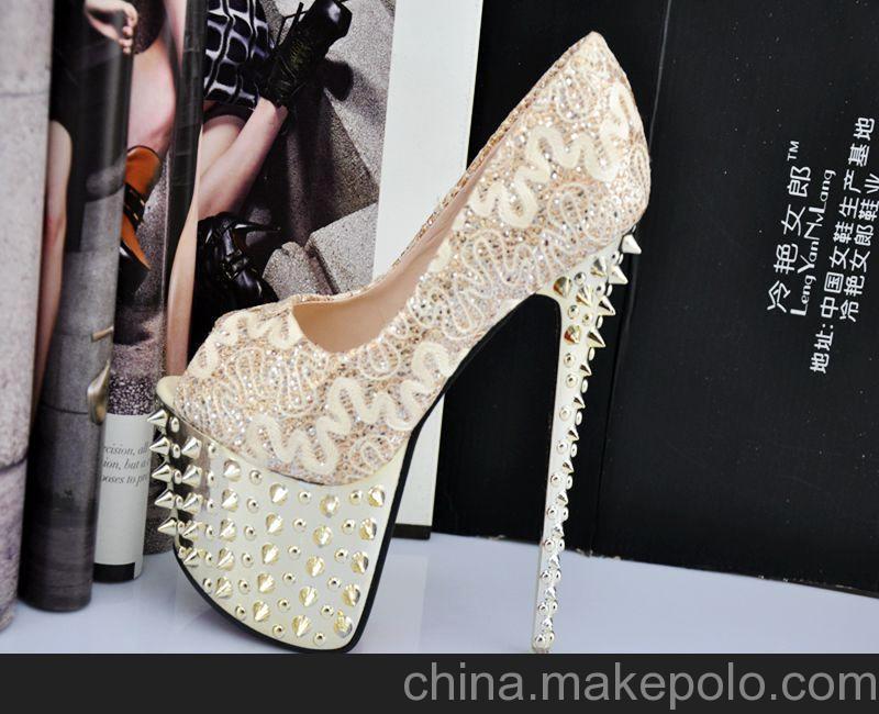 2013 新款 高跟鞋 女鞋16.5CM 超高跟单鞋 冷艳女郎 爆款A8-1