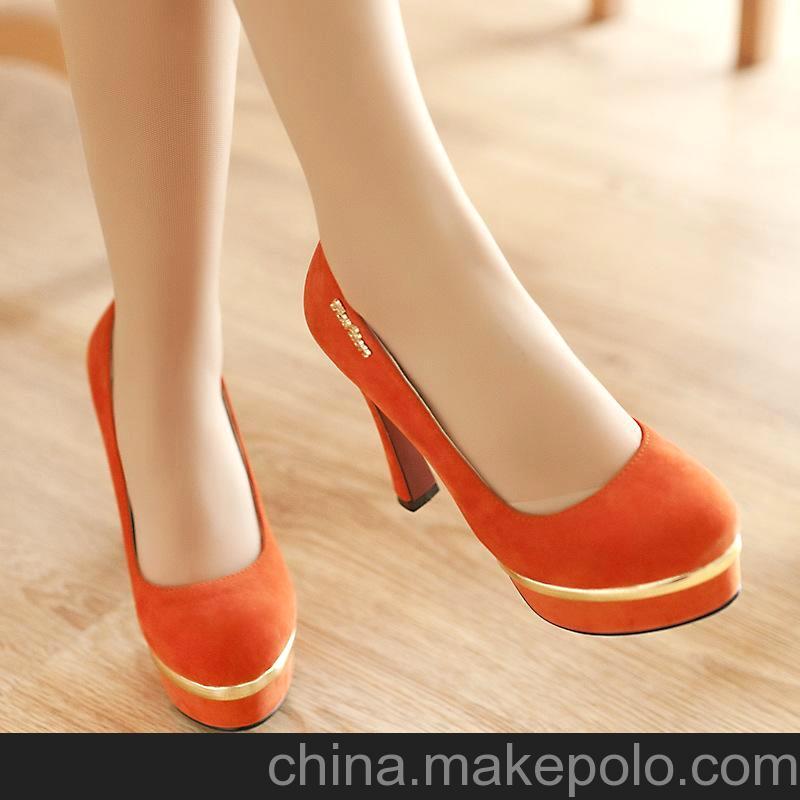 2013秋季新款防水台超高跟单鞋可混批 磨砂面性感夜店女式高跟鞋1