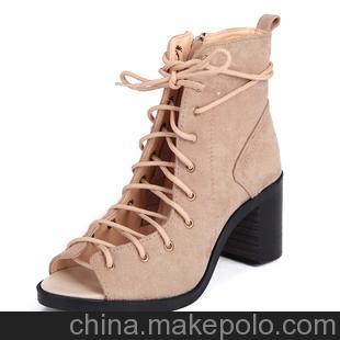 2013新款春鞋 粗跟鞋高跟鞋防水台单鞋广州女鞋批发133-1