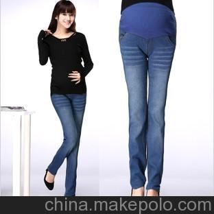 孕妇装1件代发孕妇裤孕妇小脚裤 孕妇时尚牛仔裤 孕妇托腹裤Y43