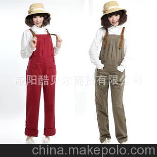 韩版孕妇装批发 女之御 孕妇装 背带裤3120-1(普通/加厚)