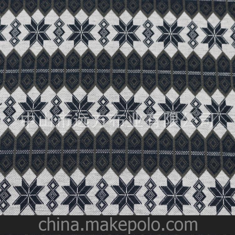 高端时尚针织面料色织提花服装布料 厂家生产批发纺织面料 40S/1