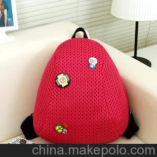 千缘皮具 新款韩版糖果色双肩包休闲学生包旅行背包撞色包包