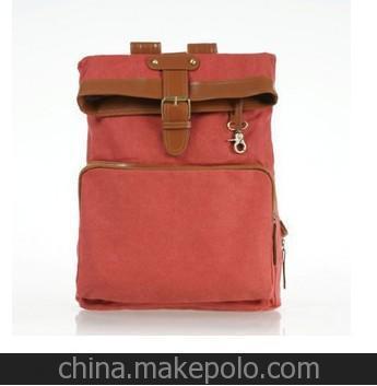 2012新款 韩版学院潮女包 红色背包帆布包学生包直销
