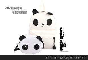 2012新款可爱憨囧熊猫包子母包书包双肩包学生包 女包 女包批发
