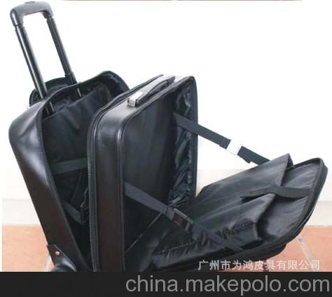 厂家直销 供应真皮PU拉杆箱拉杆行李箱拉杆电脑箱航空箱登机箱