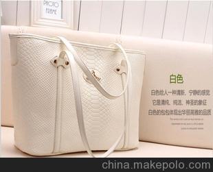 2012秋季新款女包 韩版糖果色鳄鱼纹土星包 手提包单肩包女包C134