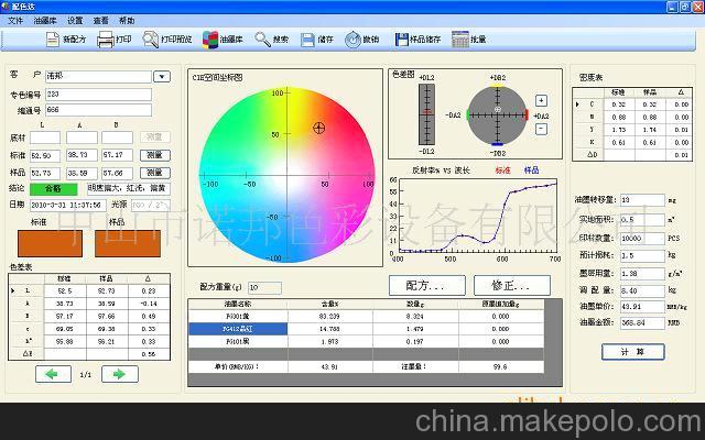 供应Caibang 自动配色系统、配颜色软件电脑调色较好的印前设备