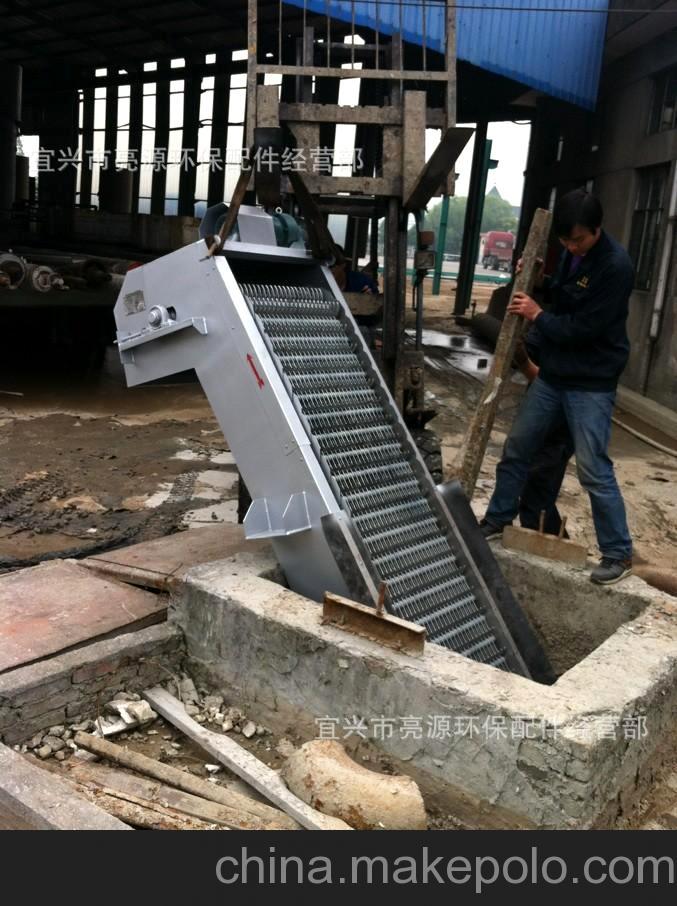 宜兴亮源环保机械格栅专业制造商 在浙江杭州金辉纸业 现场