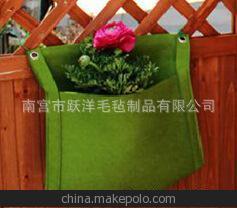 室内墙面装饰彩色无纺布 垂直壁挂种植袋1口35*30cm