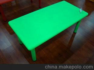 吹塑家具 HDPE 大班学习桌/餐桌 幼教专用 塑钢长桌