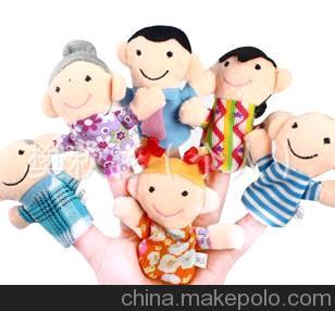 一家亲指偶 手偶 亲子互动/益智玩具/ 幼儿园教具 1包6个