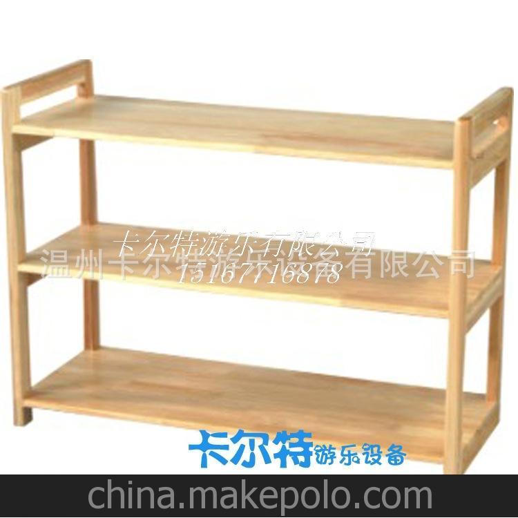 儿童实木书柜 原木杉木松木玩具柜 幼儿园教具柜 储物收纳柜