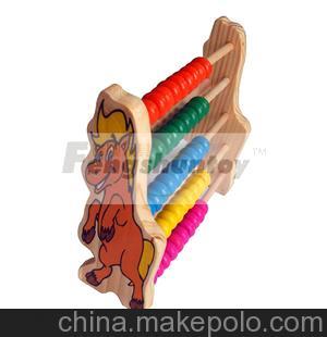 价低优质 供应优质木材环保漆木制玩具计算架幼儿园教具