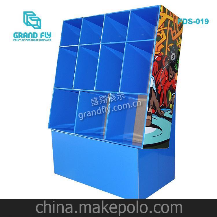 盛翔设计/生产 DVD/CD纸展架11格格子型随身听纸货架/纸展架