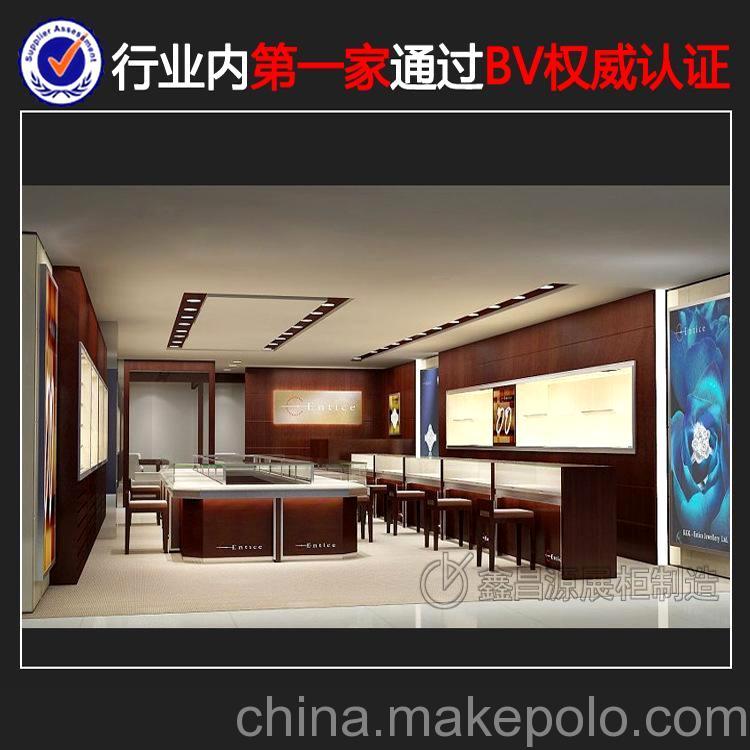 新款珠宝展示架 珠宝展厅展台设计 高端珠宝陈列柜制作 展览柜