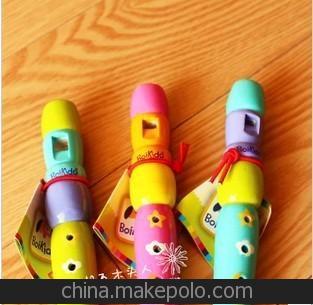 法国boikido原单 笛子 木制笛子 儿童音乐玩具 奥尔夫乐器*1