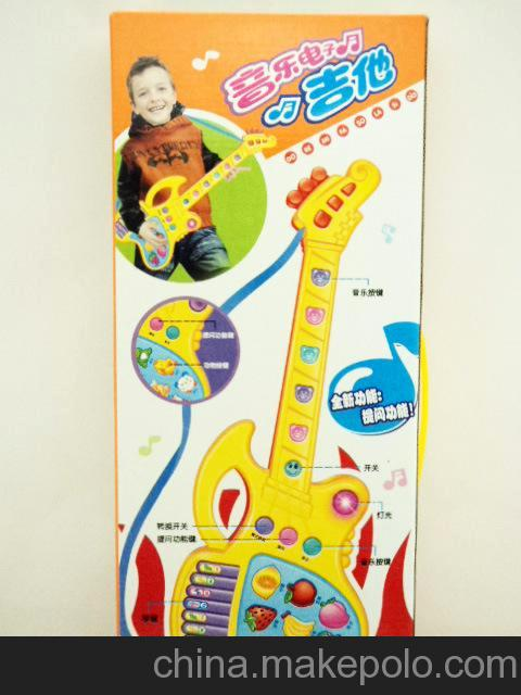 小额混批新款式乐器玩具多功能电动玩具吉他2240A-1