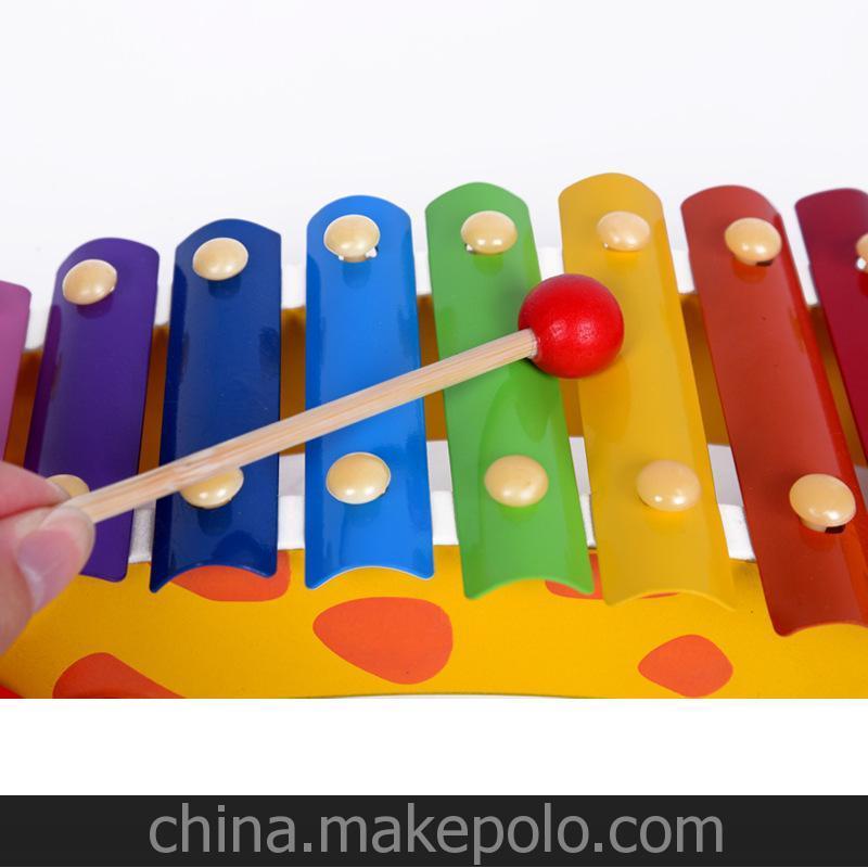 儿童乐器 益智敲打玩具 小狗敲琴车 1-3岁宝宝早教敲击玩具手敲琴