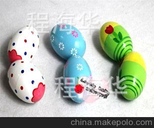 奥尔夫乐器 木制彩色沙蛋 木制沙蛋 砂蛋 1 儿童乐器木制玩具