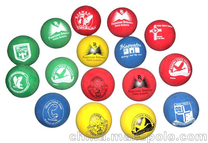 60MM空心高弹力球 壁球 手球 橡胶弹力球 外贸热销