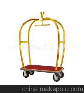 X-HG 行李车-砂银钢行李车-机场不锈钢行李车-酒店砂银钢行李车1