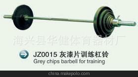 海兴厂家制造 健身房器材 举重用品系列 灰漆片训练杠铃