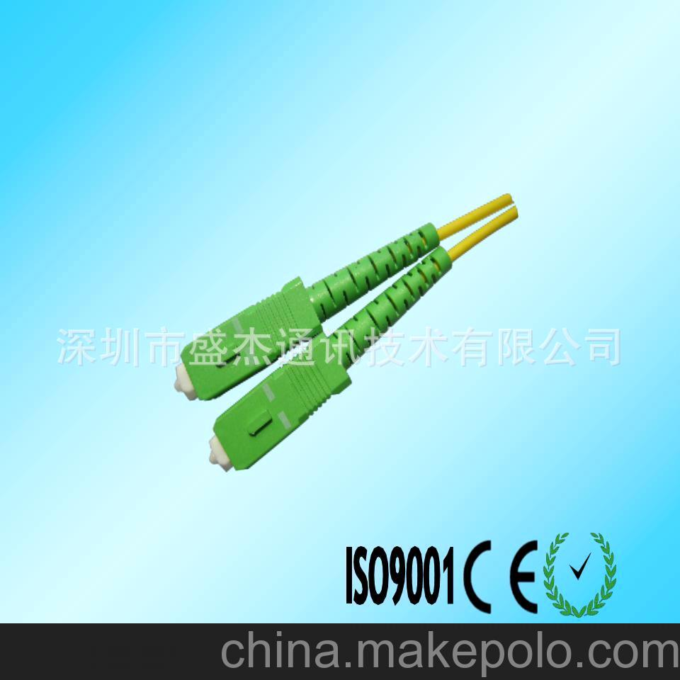 高精度光纤跳线,特殊光纤跳线,SC/APC 斜8度光纤跳线(广电级
