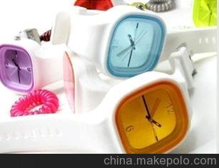 6元店热销 2012爆款热销2万只方形果冻手表 糖果色热销淘宝