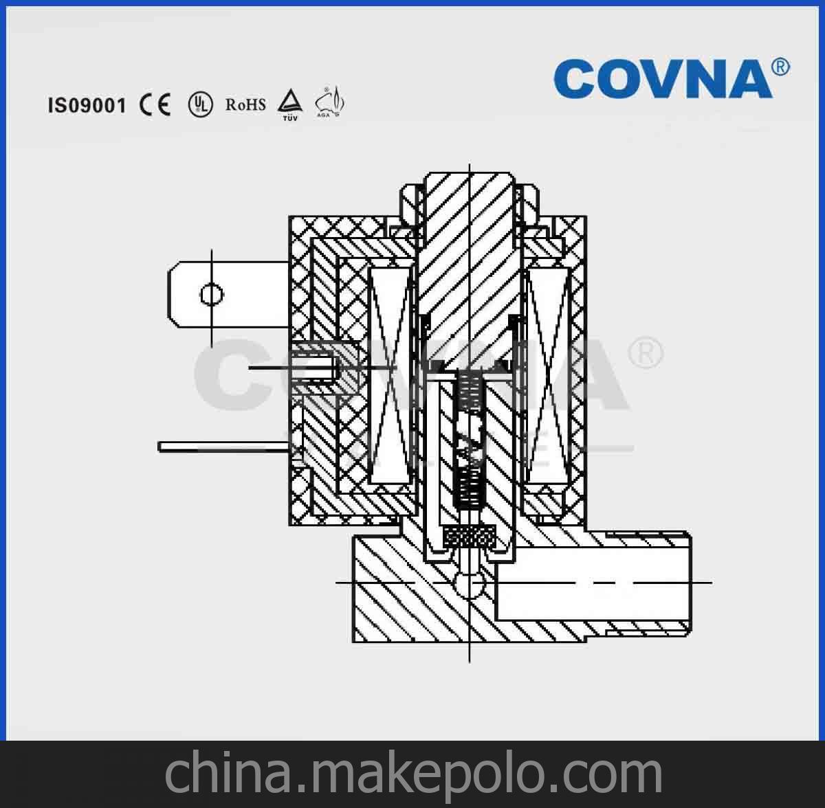 科威纳二通常闭直角电磁阀 蒸汽熨斗蒸汽地拖小家电配件