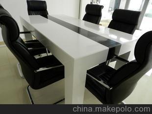 人造石展厅一角 人造大理石大班桌 会议桌 石材家具
