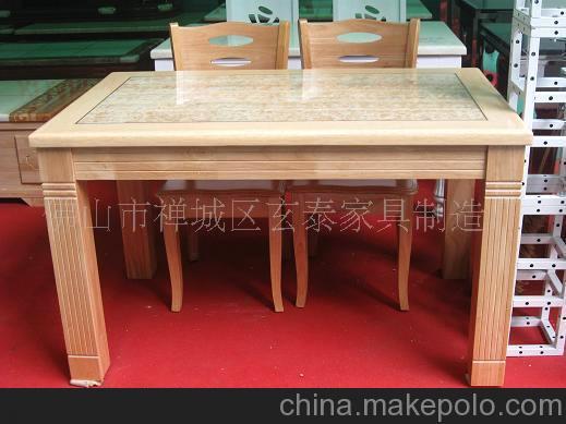 厂家直销)白色印花大理石餐桌,实木餐桌,石材家具,高档方桌