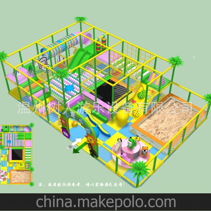 热卖 大型室内童游乐设施 孩子堡 儿童淘气堡 50平方