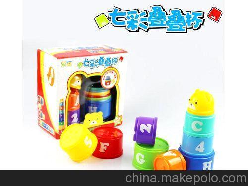 有3C品牌玩具 小熊叠叠积木 YLH6603-1 趣味叠叠杯 益智玩具