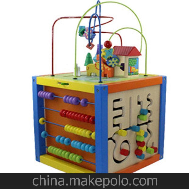清仓 宝宝木质玩具1-3岁大绕珠串珠百宝箱儿童早教益智玩具