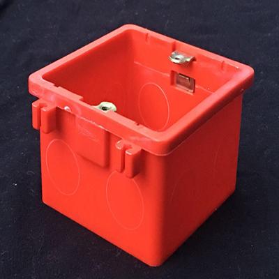 汉丰达塑料-插扣86型PVC阻燃线盒、底盒