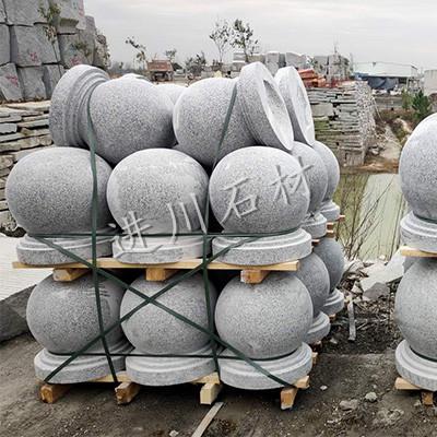 进川石材-芝麻白圆球