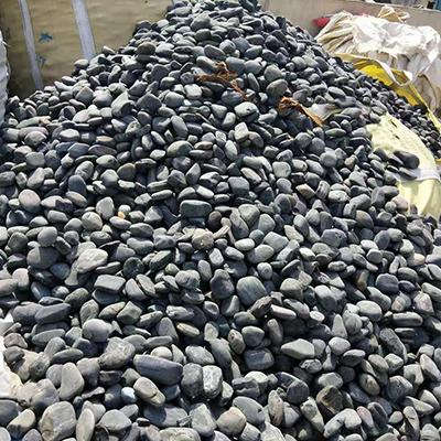 光辉建材-5-8cm 黑色鹅卵石