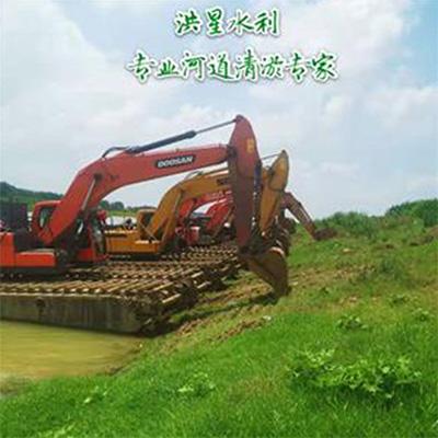 水陆挖掘机施工
